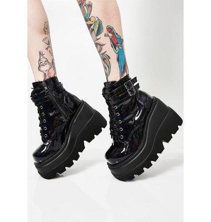 Demonia Dark Prism Technopagan Boots | Dolls Kill