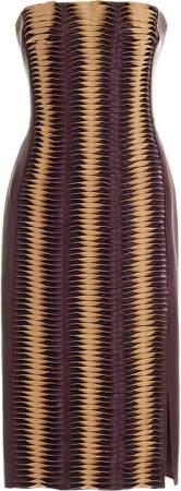 Akris Leather Corsage Dress