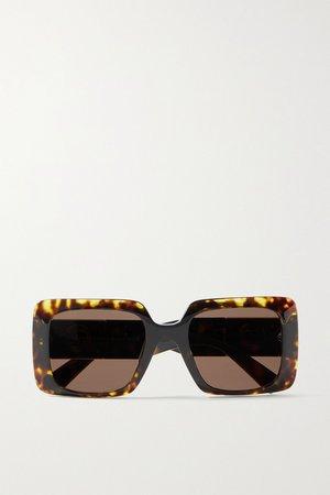 Tortoiseshell Oversized square-frame tortoiseshell acetate sunglasses   Versace   NET-A-PORTER
