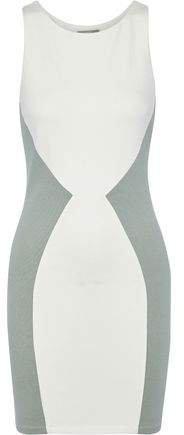 Shiloh Two-tone Stretch-knit Mini Dress