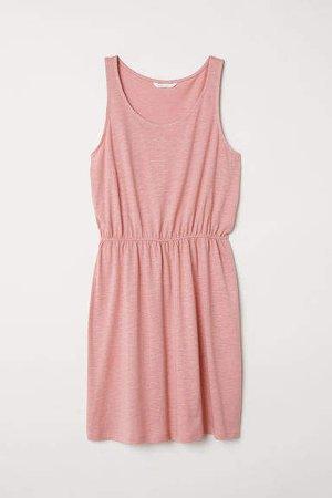 Sleeveless Jersey Dress - Pink