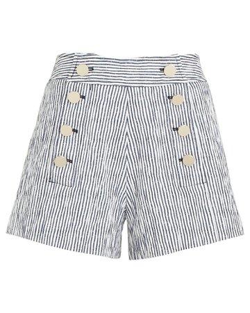 Derek Lam 10 Crosby Robertson Striped Shorts | INTERMIX®