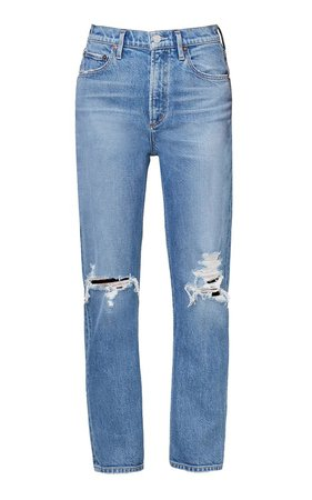 Wilder Stretch Mid-Rise Straight-Leg Jeans by Agolde | Moda Operandi