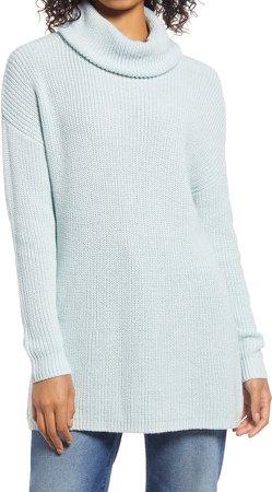 Oversized Turtleneck Tunic Sweater