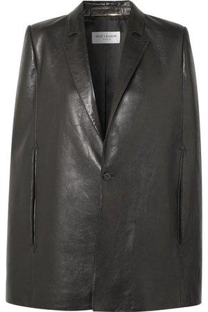 SAINT LAURENT | Leather cape | NET-A-PORTER.COM