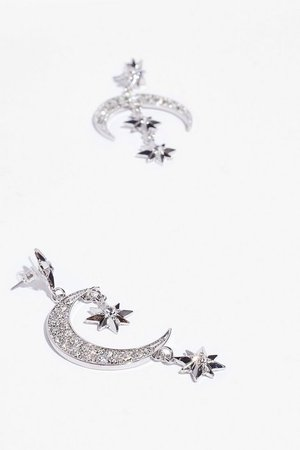 Shoot for the Moon Star Drop Earrings | Nasty Gal