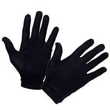 black silk gloves