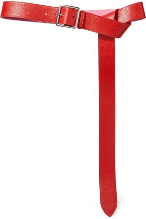Alexander McQueen | Textured-leather waist belt | NET-A-PORTER.COM