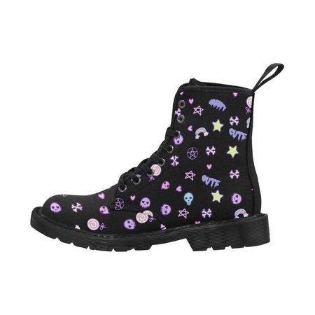 Goth Kawaii Pastel Creepy Cute Boots | Etsy