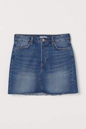 Short Denim Skirt - Blue