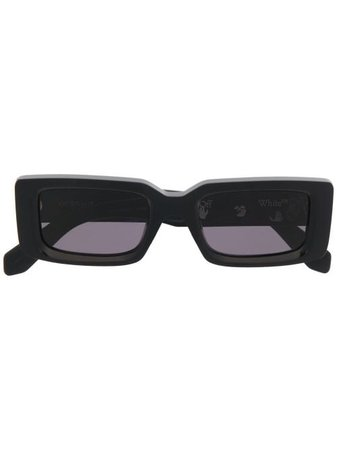 Shop black Off-White Arthur rectangular-frame sunglasses with Express Delivery - Farfetch