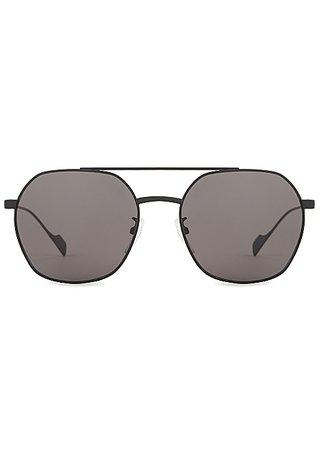 Balenciaga Matte black aviator-style sunglasses - Harvey Nichols