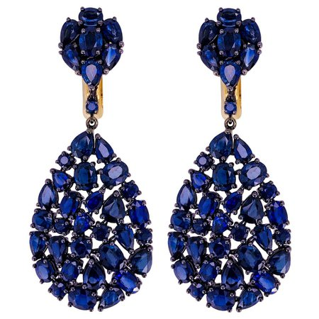 Etho Maria Blue Sapphire Earrings For Sale at 1stDibs