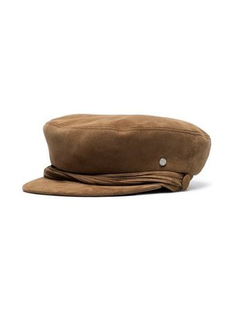 Maison Michel brown Abby suede sailor cap