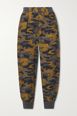 Bronze Camouflage-print silk track pants | ATM Anthony Thomas Melillo | NET-A-PORTER