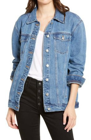 Madewell Balboa Wash The Oversize Jean Jacket | Nordstrom
