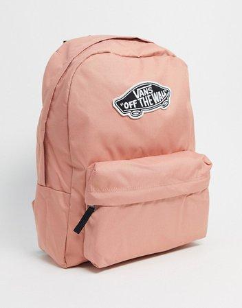 Vans Realm backpack in pink | ASOS