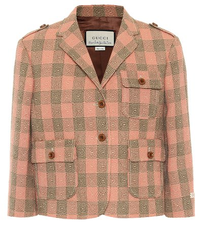 Gucci Damier Wool Jacket - Gucci