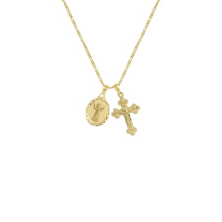 THE LE SIRENE MEDAL CROSS NECKLACE — The M Jewelers