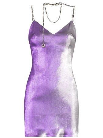 AREA crystal-necklace Mini Dress - Farfetch