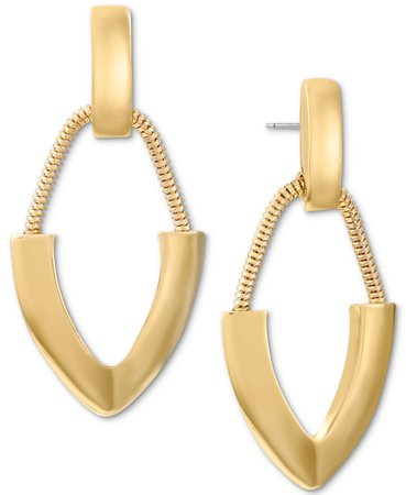 Alfani Gold-Tone Contemporary Drop Earrings, Created for Macy's & Reviews - Earrings - Jewelry & Watches - Macy's