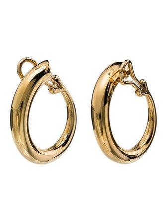 Charlotte Chesnais yellow gold monie large clip earrings $522 - Buy Online AW18 - Quick Shipping, Price