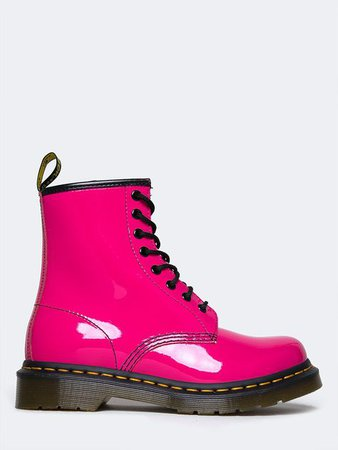Doc Martens Hot Pink Patent Leather Boots