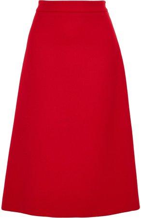 Wool-gabardine Skirt