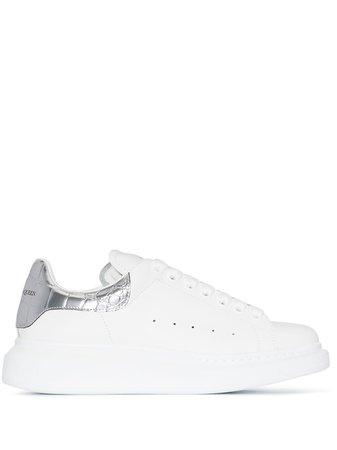 Alexander McQueen Oversized Metallic Leather Sneakers - Farfetch