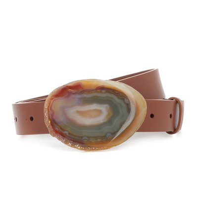 Gabriela Hearst - Wide Agate leather belt | Mytheresa