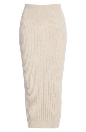 AllSaints Enya Ribbed Wool Blend Skirt | Nordstrom