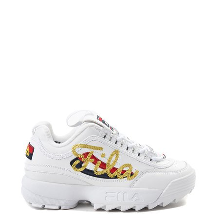 Womens Fila Disruptor 2 Premium Script Athletic Shoe | Journeys