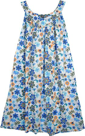 Daisy Floral Simple Cotton Summer Dress | Dresses | White | Sleeveless, Misses, Floral, Printed