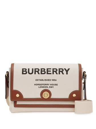 Burberry Horseferry Print Canvas Note Crossbody Bag - Farfetch