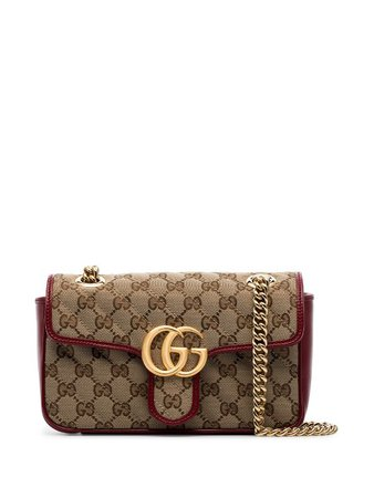 Gucci Mini Marmont GG Shoulder Bag - Farfetch