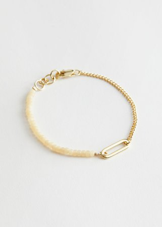 Beaded Chain Bracelet - Gold - Bracelets - & Other Stories