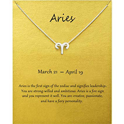 Amazon.com: Aries Constellation Zodiac Necklace for Women Girls Aries Necklace Jewelry Best Friends Gifts for Birthday Christmas Thanksgiving Valentine's Day Gifts for Friends Sister Aunt Niece: Arts, Crafts & Sewing