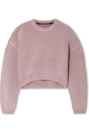 Alexander Wang | cropped ribbed sweater