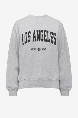 ANINE BING Ramona Sweatshirt University Los Angeles - Heather Grey