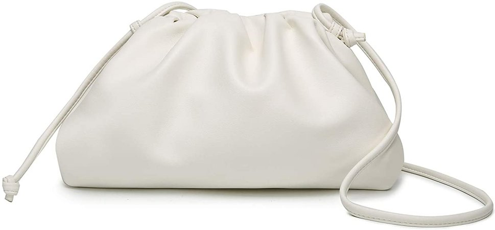CATMICOO Cloud Crossbody Bags for Women Clutch Purse with Dumpling Shape and Ruched Detail (Beige-Small): Handbags: Amazon.com