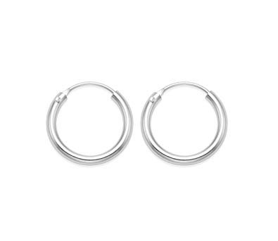 Silver Hinged Hoop Earrings