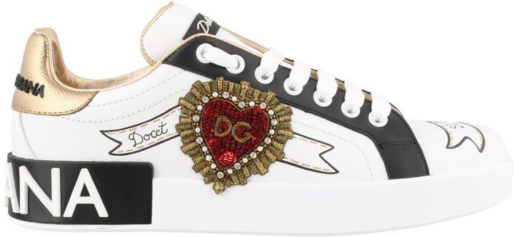 Dolce Gabbana Embroidered Portofino Sneakers