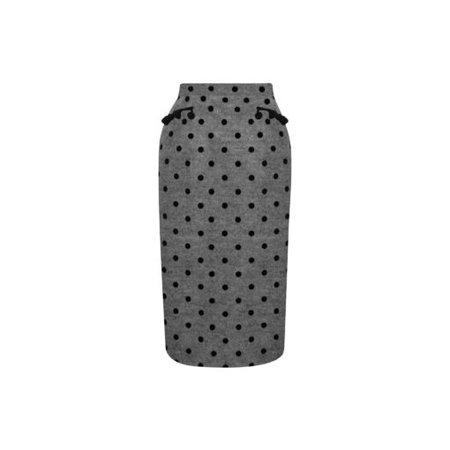 """""""Rosario"""" skirt Gray felt with polka dots 