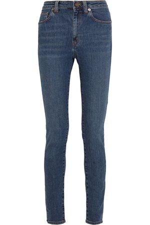 Mid denim High-rise skinny jeans | SAINT LAURENT | NET-A-PORTER
