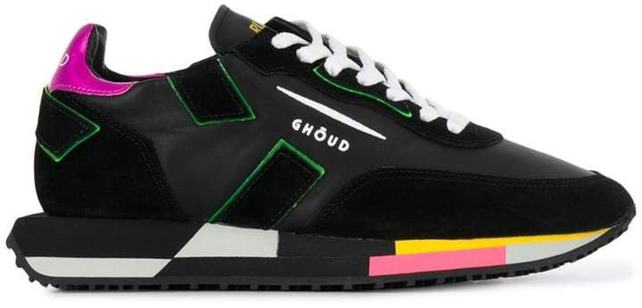 Ghoud panelled lace-up sneakers