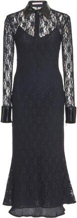 Bell-Sleeve Lace Midi Dress