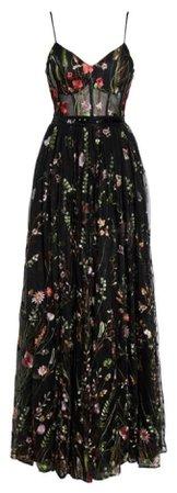 black floral formal dress