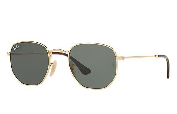 Óculos de sol Hexagonal Flat Lenses Ouro, RB3548NL | Ray-Ban® Brasil