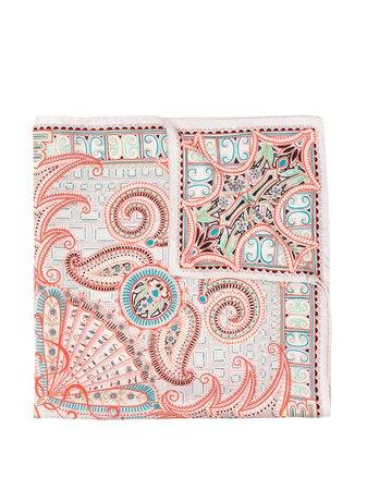 Etro Paisley Print Scarf 126135712 Orange | Farfetch