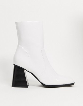 RAID Lorina heeled ankle boots in white | ASOS